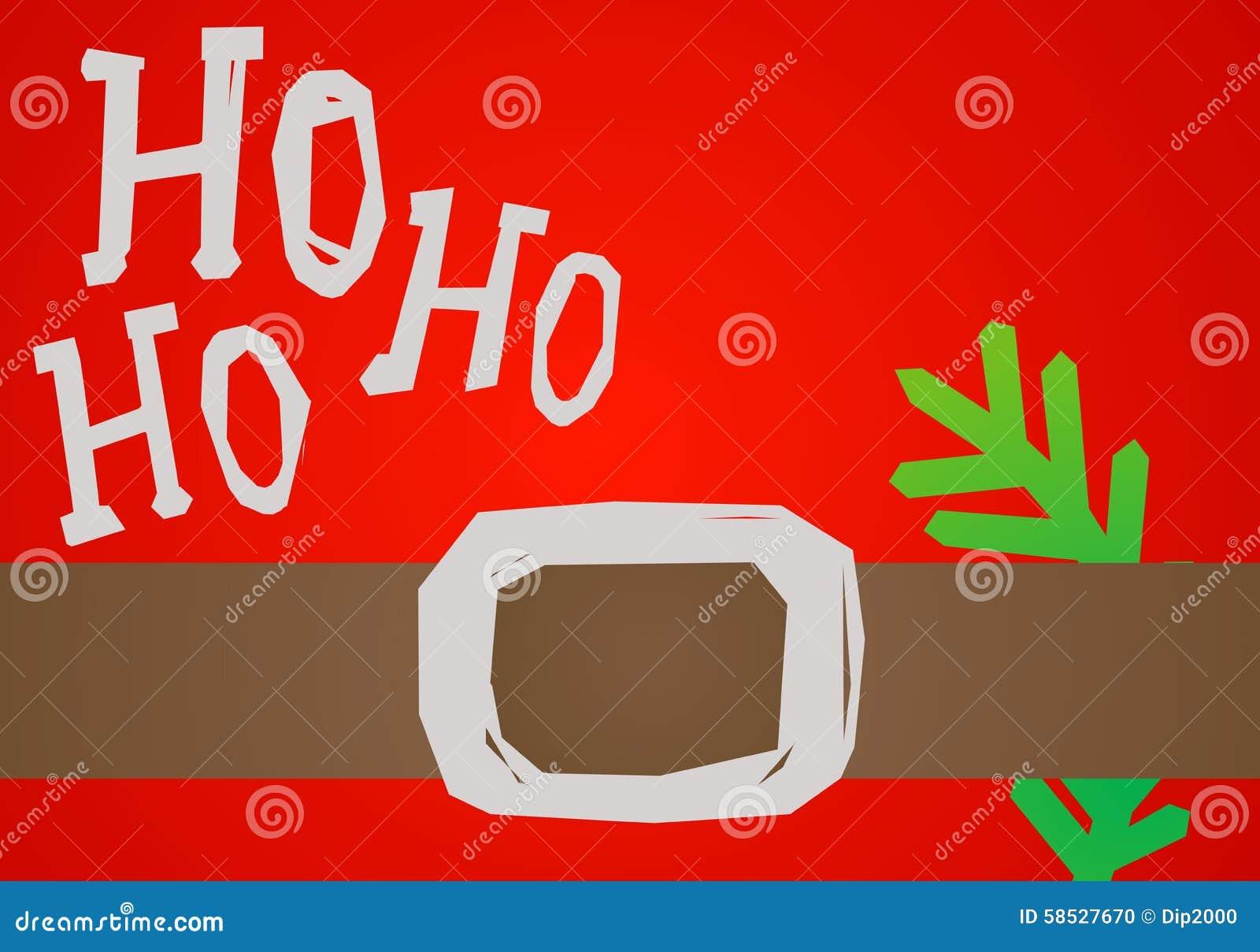 Christmas card HO HO HO stock vector. Illustration of simple - 58527670