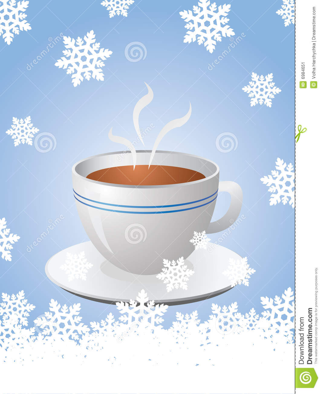 christmas card hot cup coffee 6984651 Blue Max Coffee Christmas Card With Hot Cup Of Coffee Stock Image Image