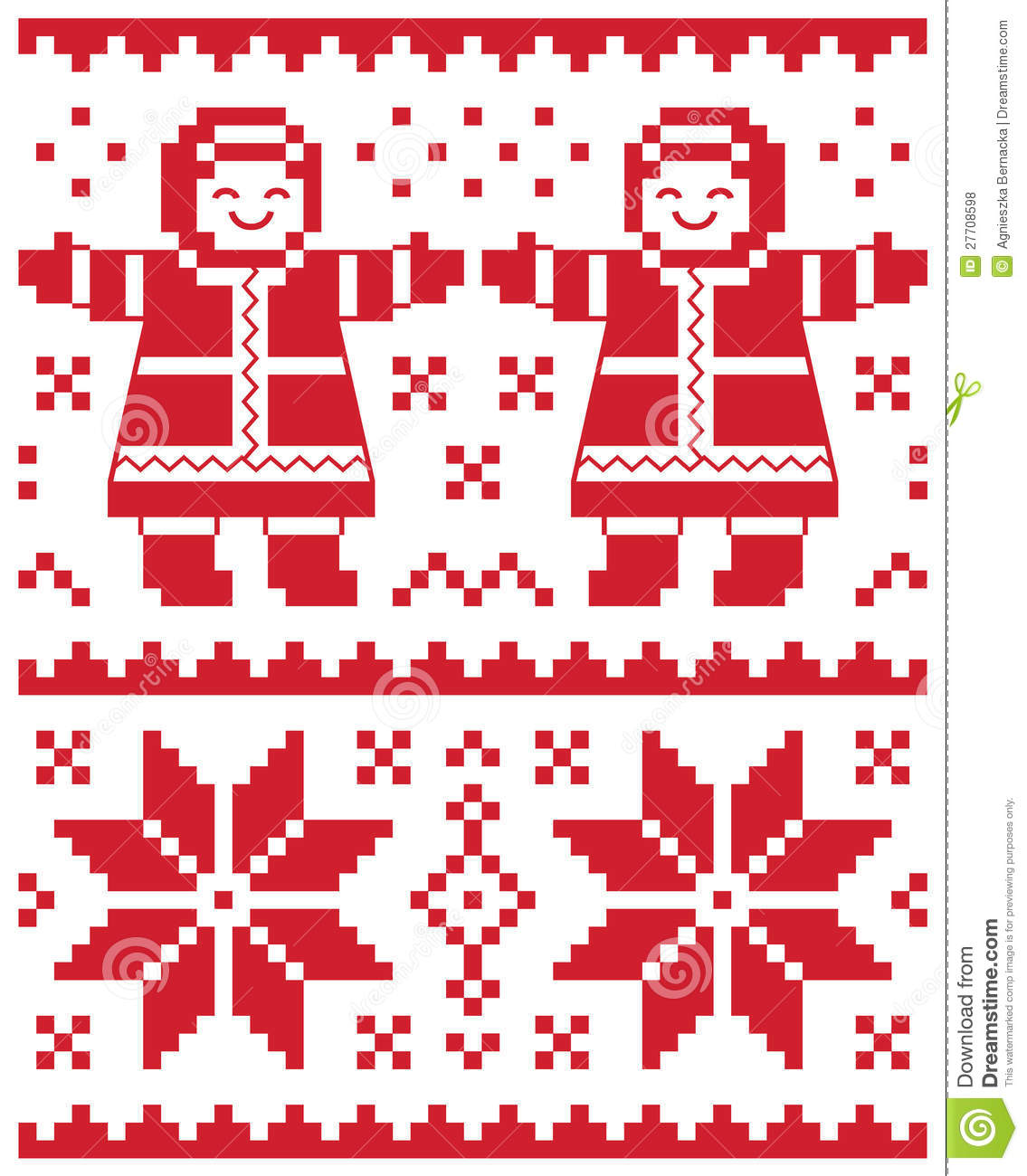 Knitting Patterns For Christmas Cards : Christmas Card - Knitted Pattern Royalty Free Stock Photos - Image: 27708598