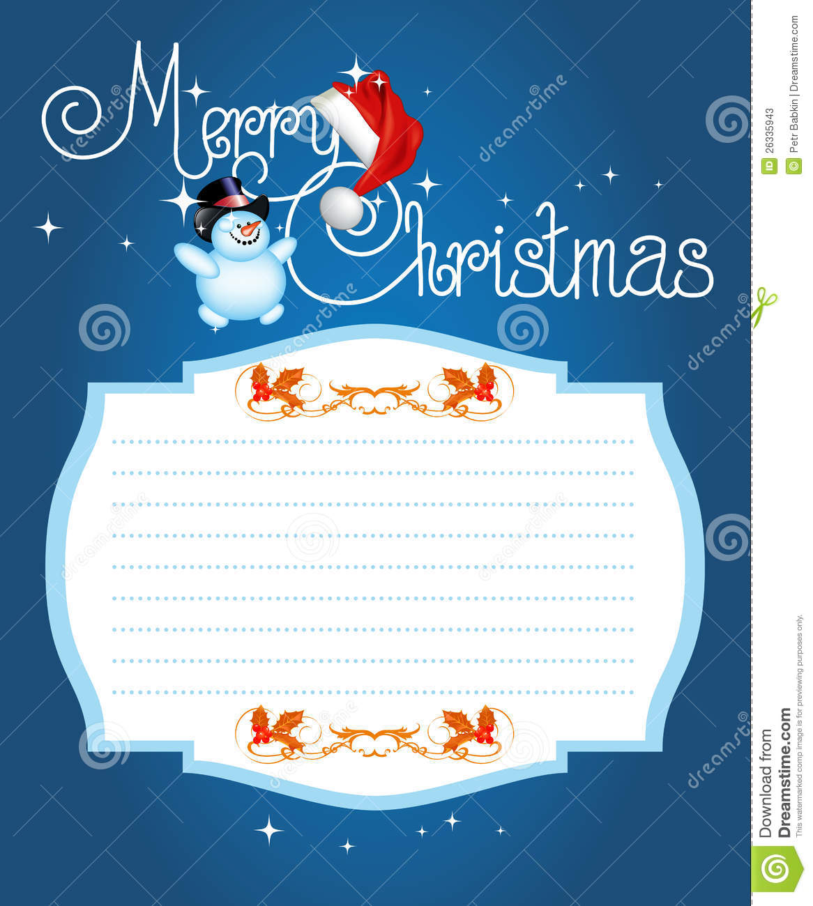 christmas card merry christmas lettering stock vector