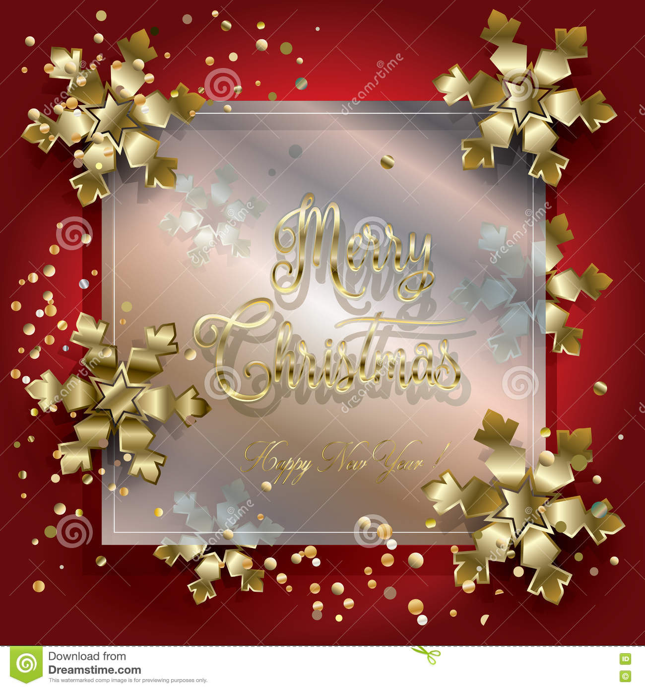 Christmas Card 2019 Gold Luxury Frame Stock Vector - Illustration of ...