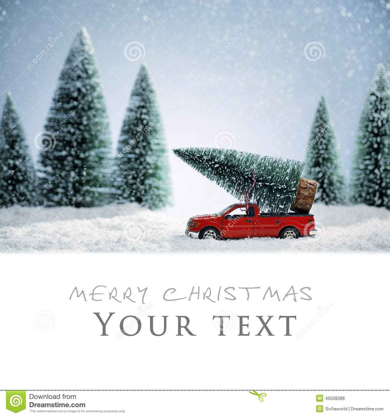 Christmas Card Stock Photo. Image Of Background, Snow