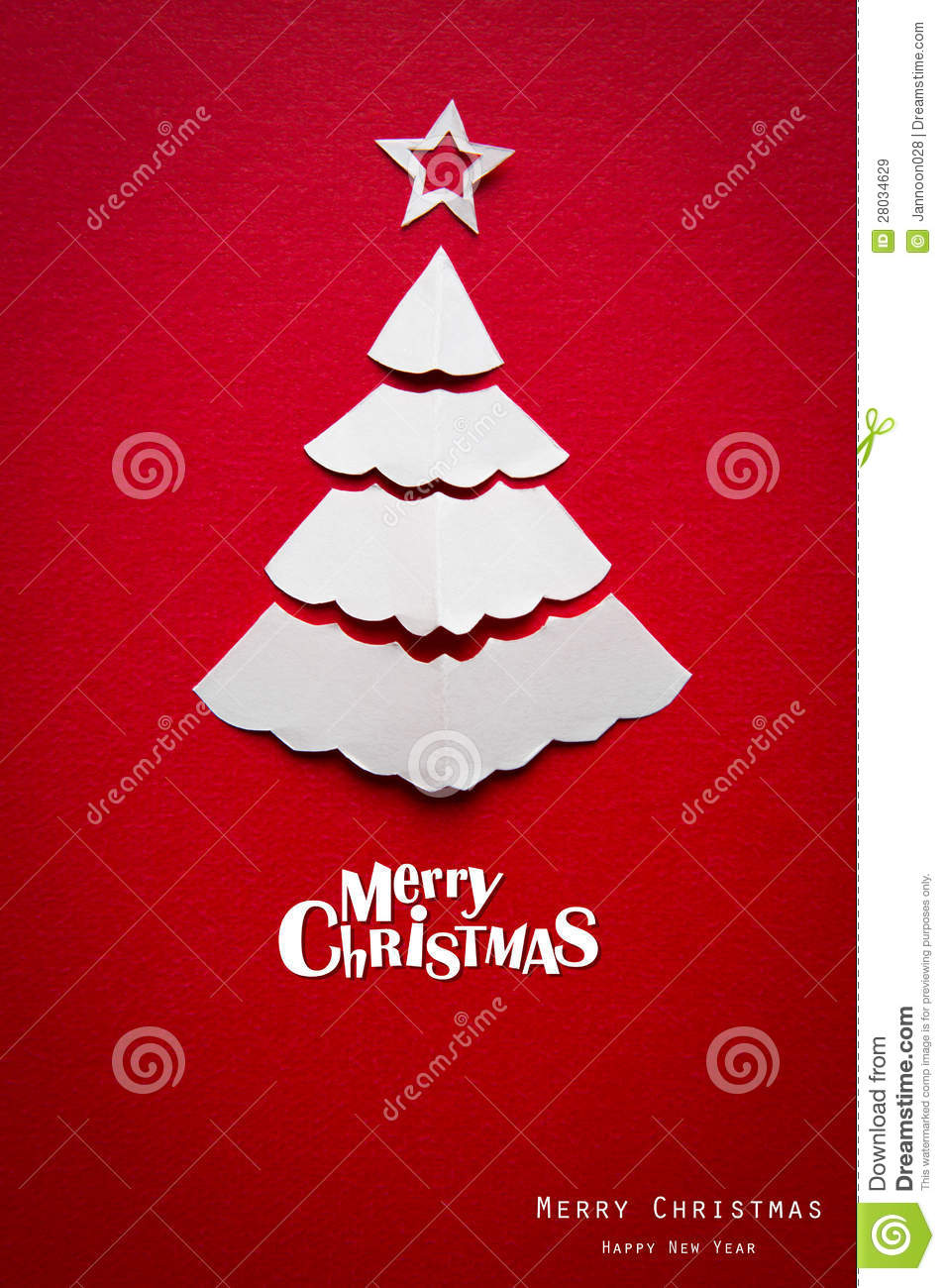 Christmas Card With Origami Christmas Decoration. Stock ... - photo#36