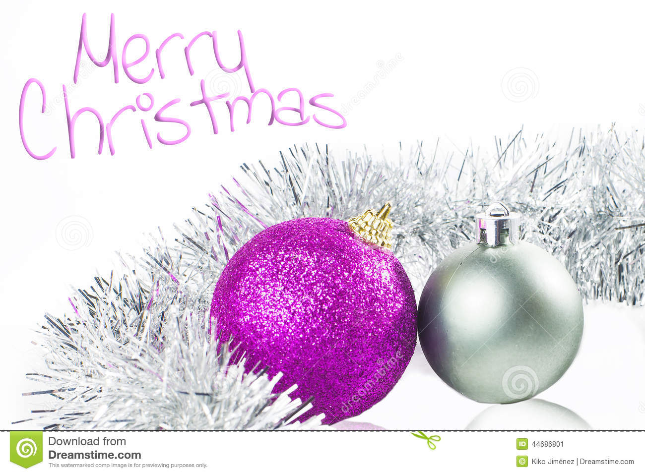 Purple silver and white christmas decorations - Background Christmas Purple Silver White