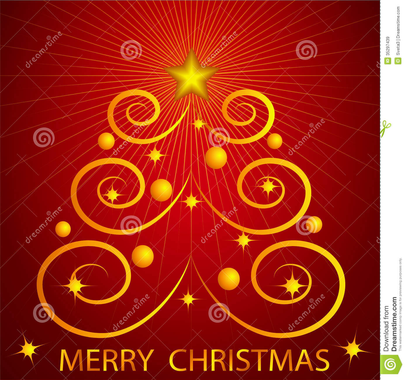Christmas Card Stock Vector. Illustration Of Card