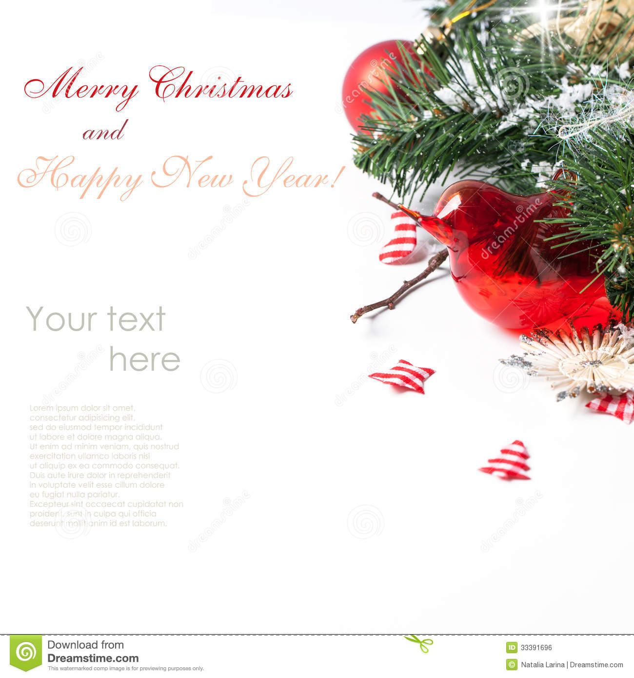 Christmas Card With Red Bird Royalty Free Image Image – Sample of Christmas Greetings