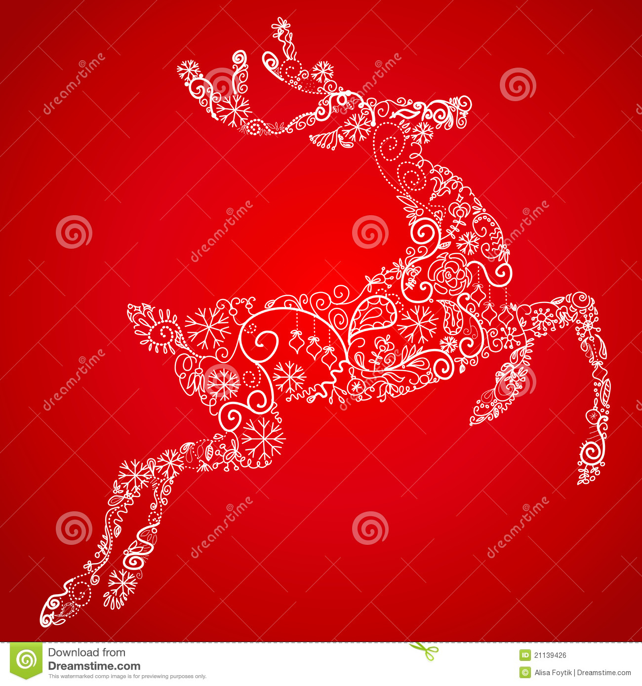 Christmas Card Reindeer Royalty Free Stock Image Image