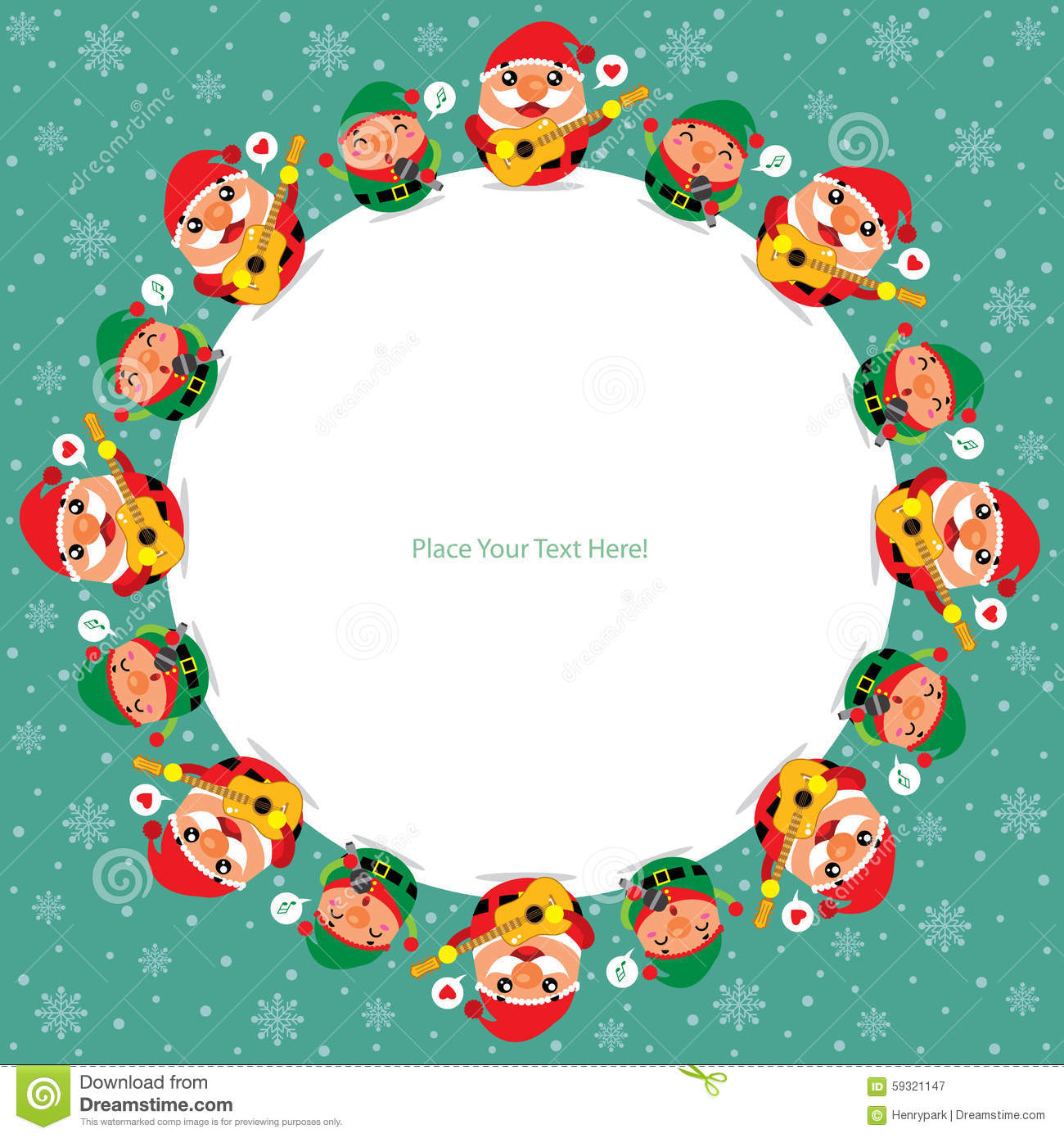 download christmas card with santa claus and elf stock vector illustration of background banner - Elf Christmas Card