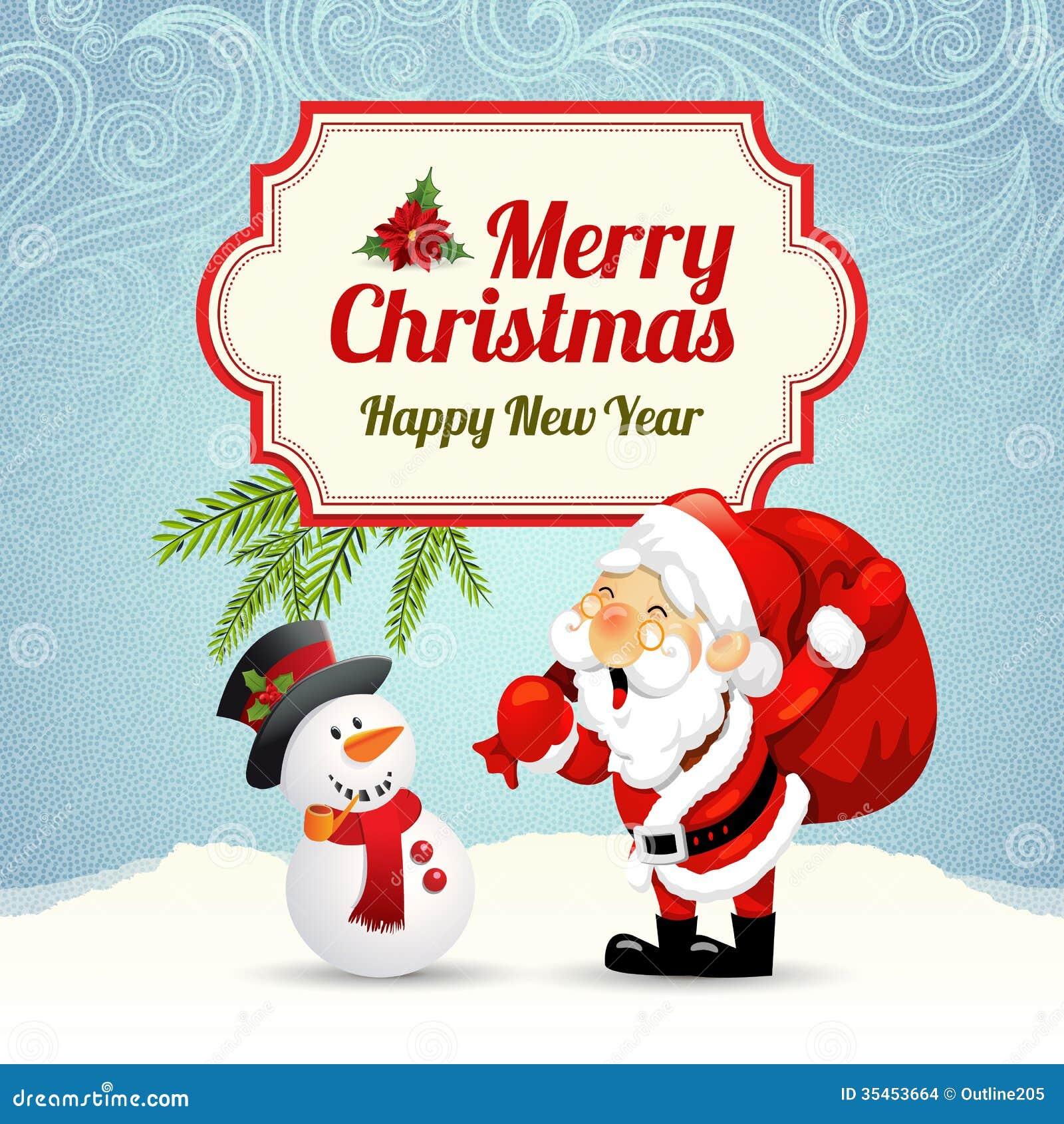 Christmas card stock vector. Illustration of happy, celebration ...