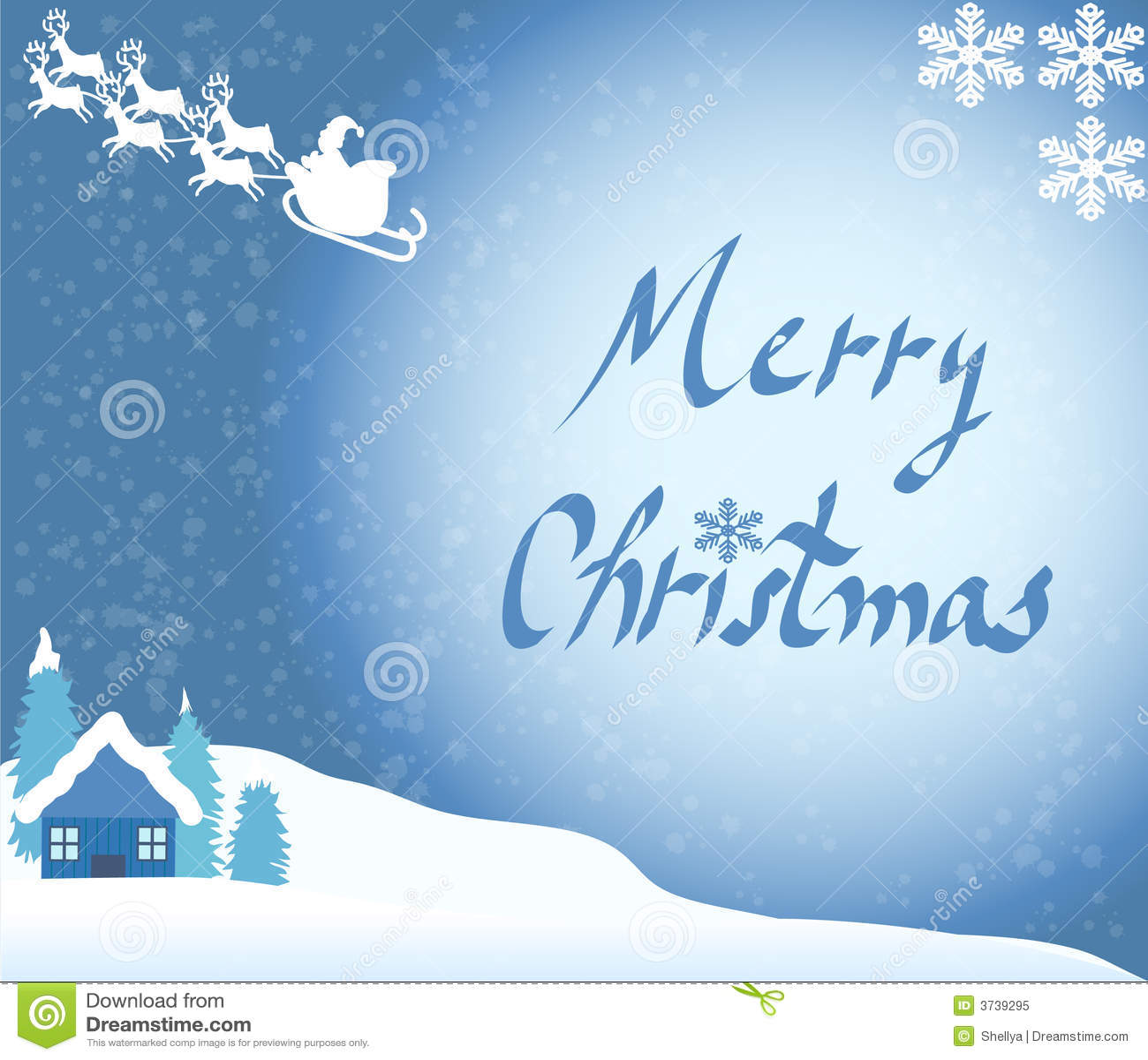 Christmas cardsanta and snow stock illustration illustration of christmas cardsanta and snow m4hsunfo