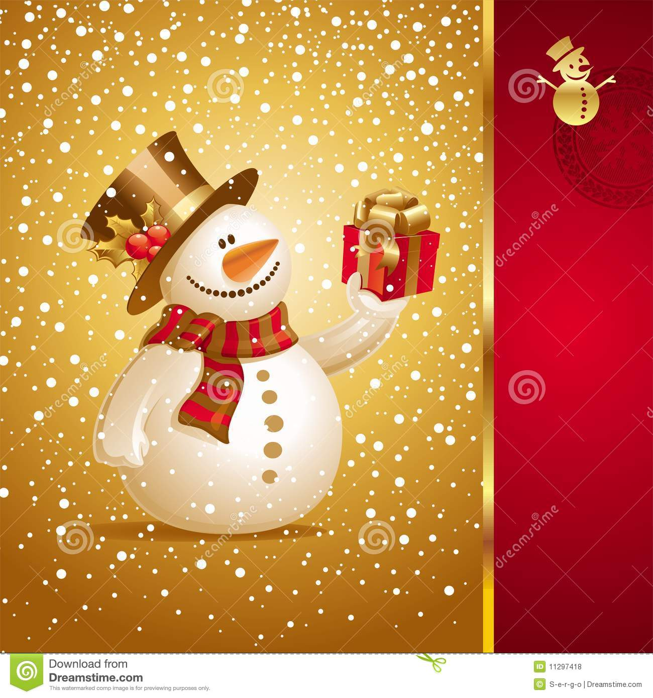 Christmas letter g with santa claus cap stock photo 169 vladvitek - Christmas Card With Smiling Snowman Royalty Free Stock Photos