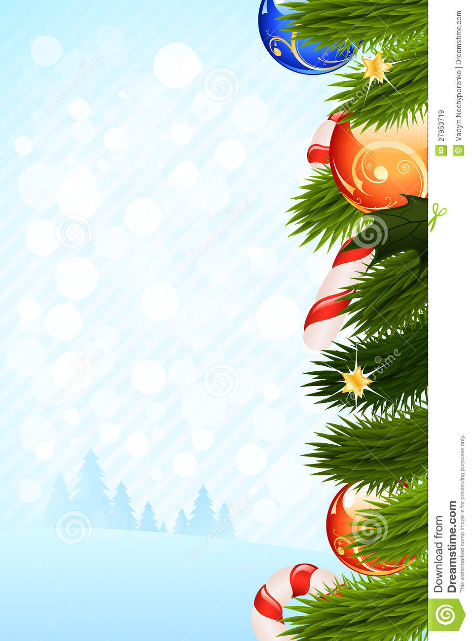 christmas card template stock vector illustration of ball 27953719