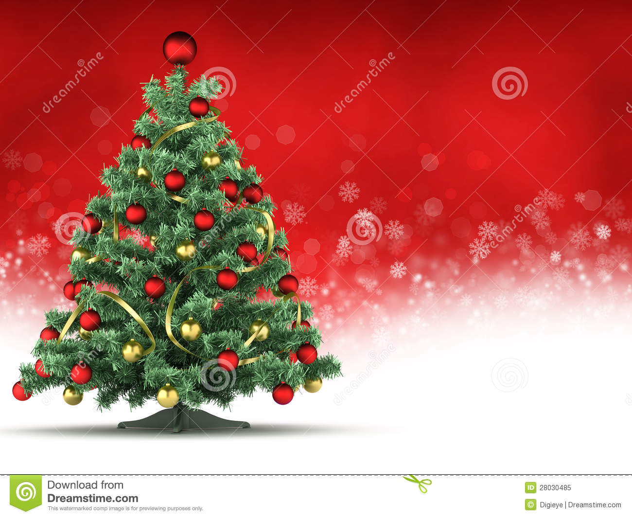 christmas card template xmas tree on red and white background