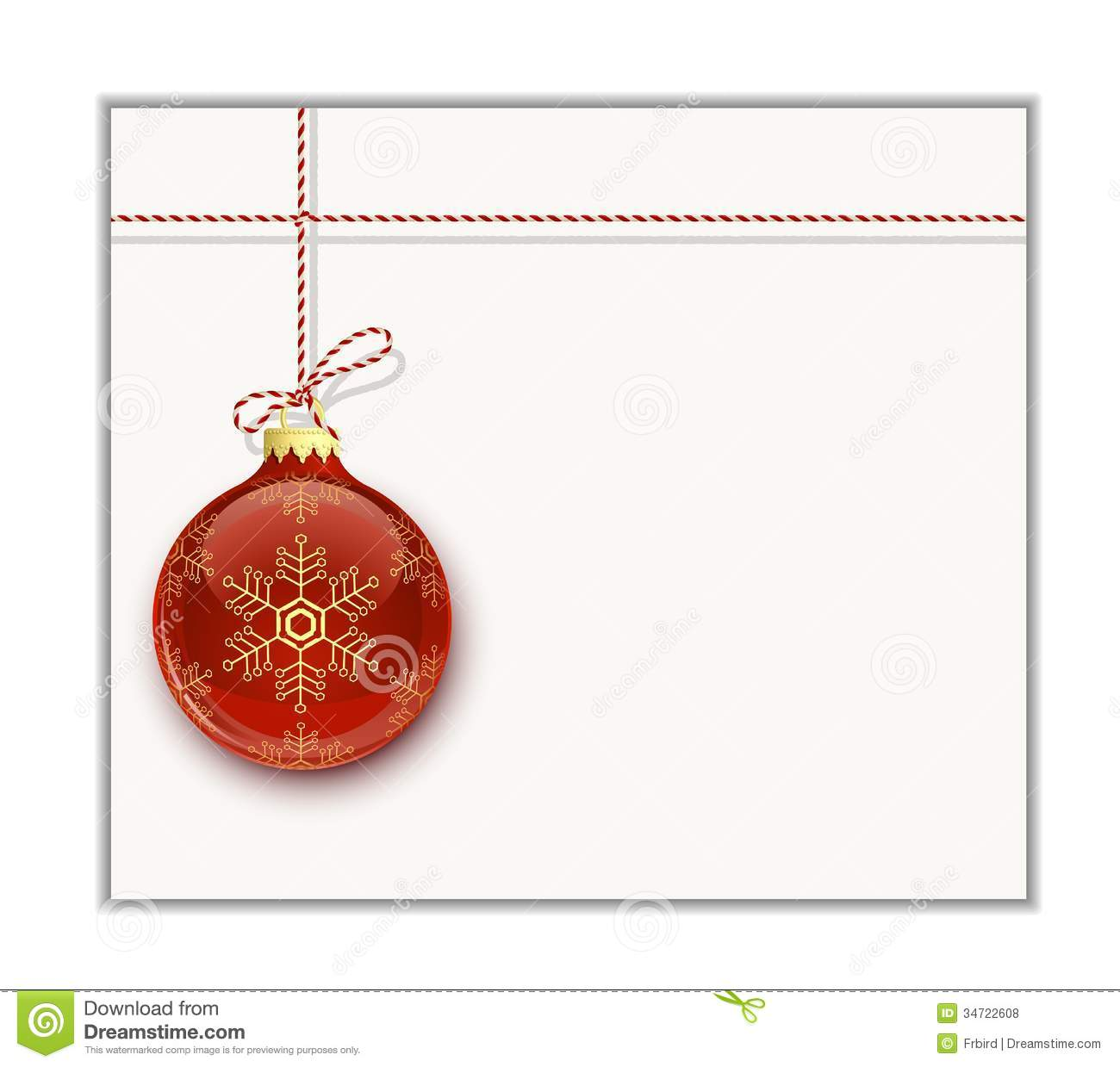 christmas card template stock vector image of clip bauble 34722608. Black Bedroom Furniture Sets. Home Design Ideas