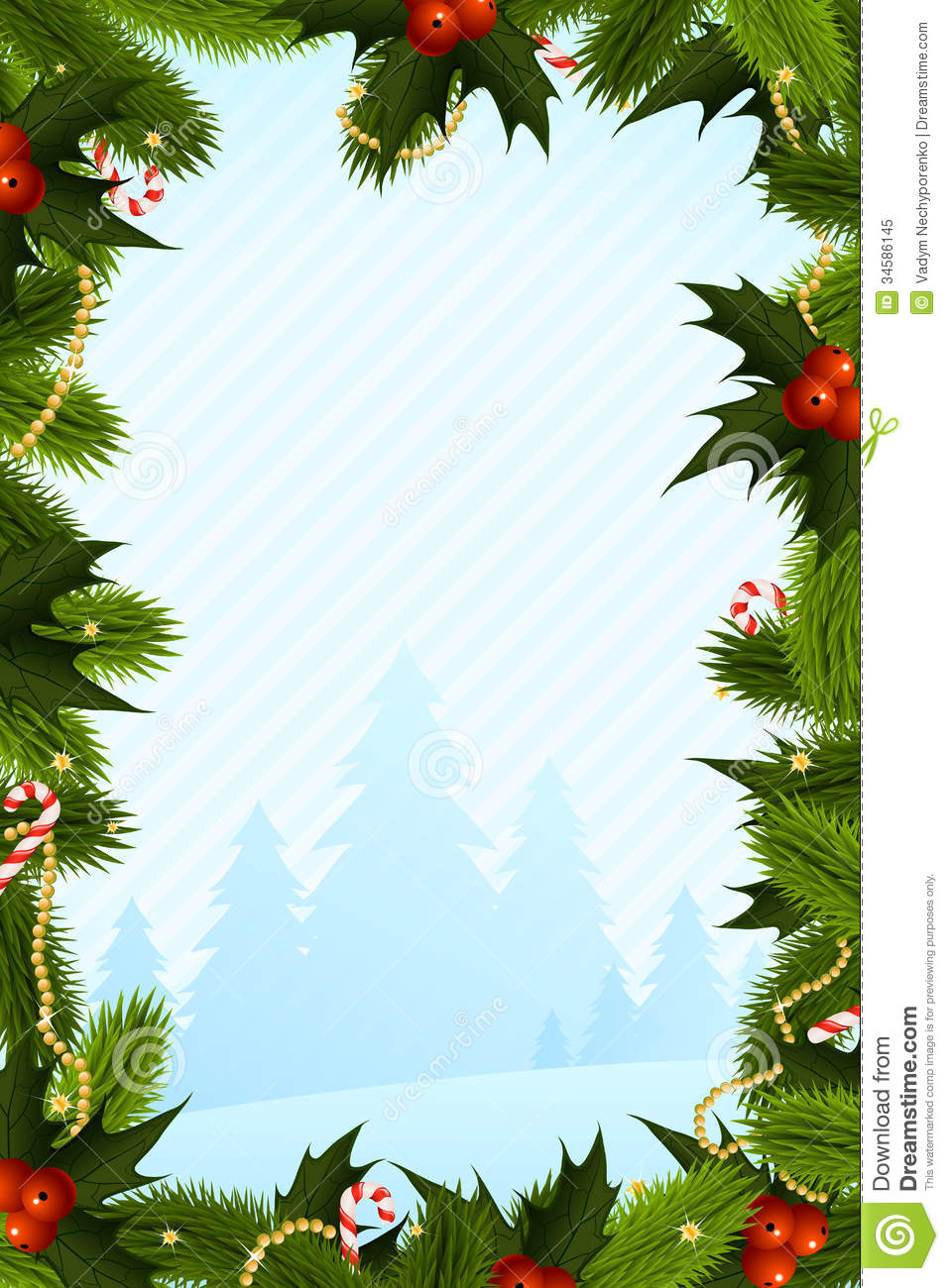 Christmas Card Template. Shape, Illustration.  Free Xmas Card Template