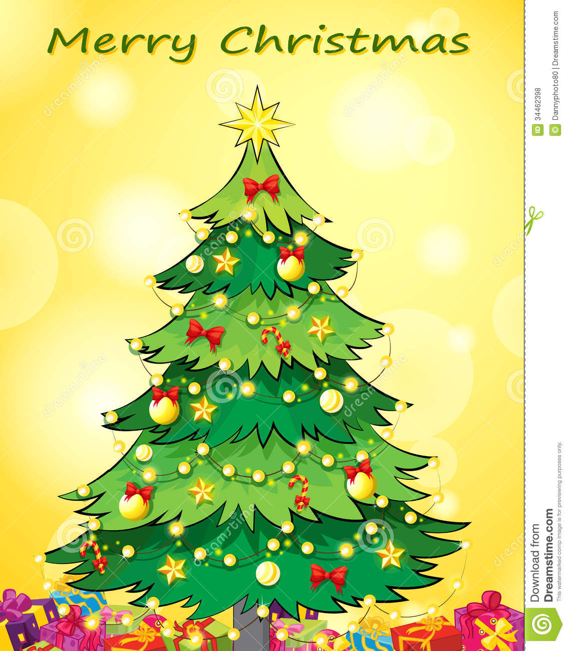 royalty free stock photo download a christmas card - Christmas Tree Card