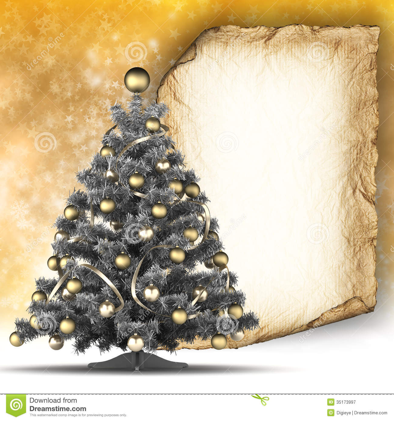 Christmas Card Template   Paper Sheet And Christmas Tree  Christmas Template Free