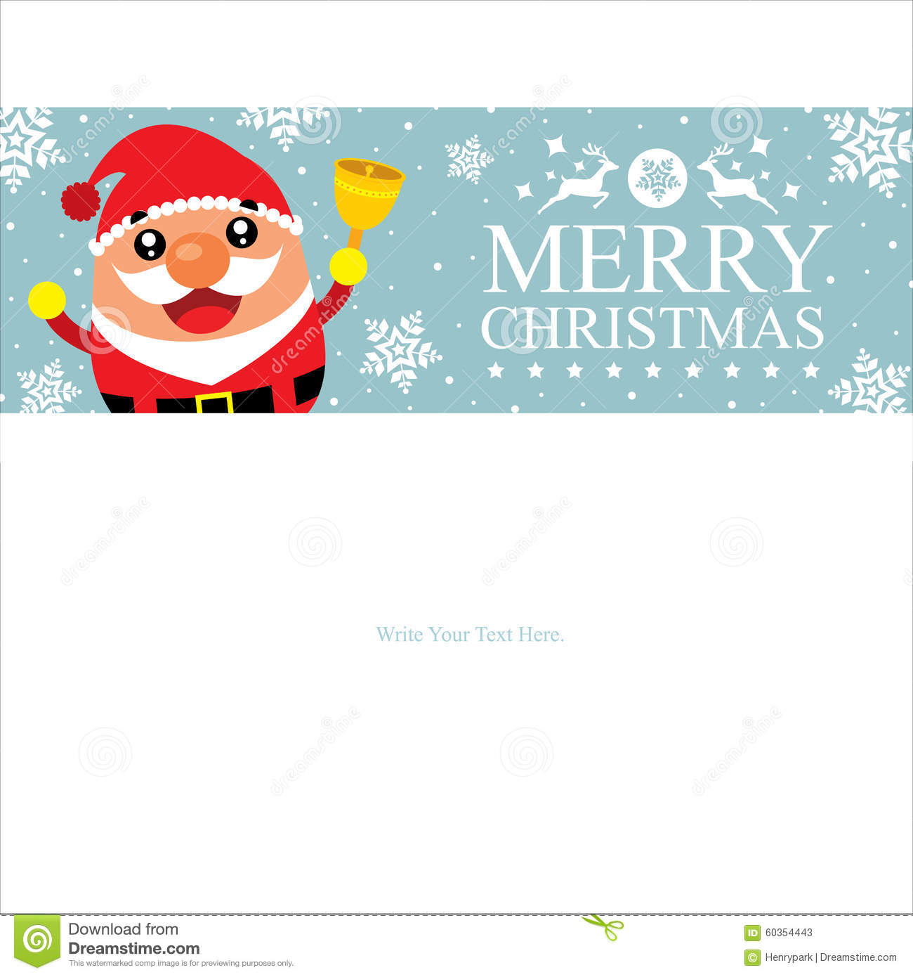 christmas card template santa claus celebration reindeer