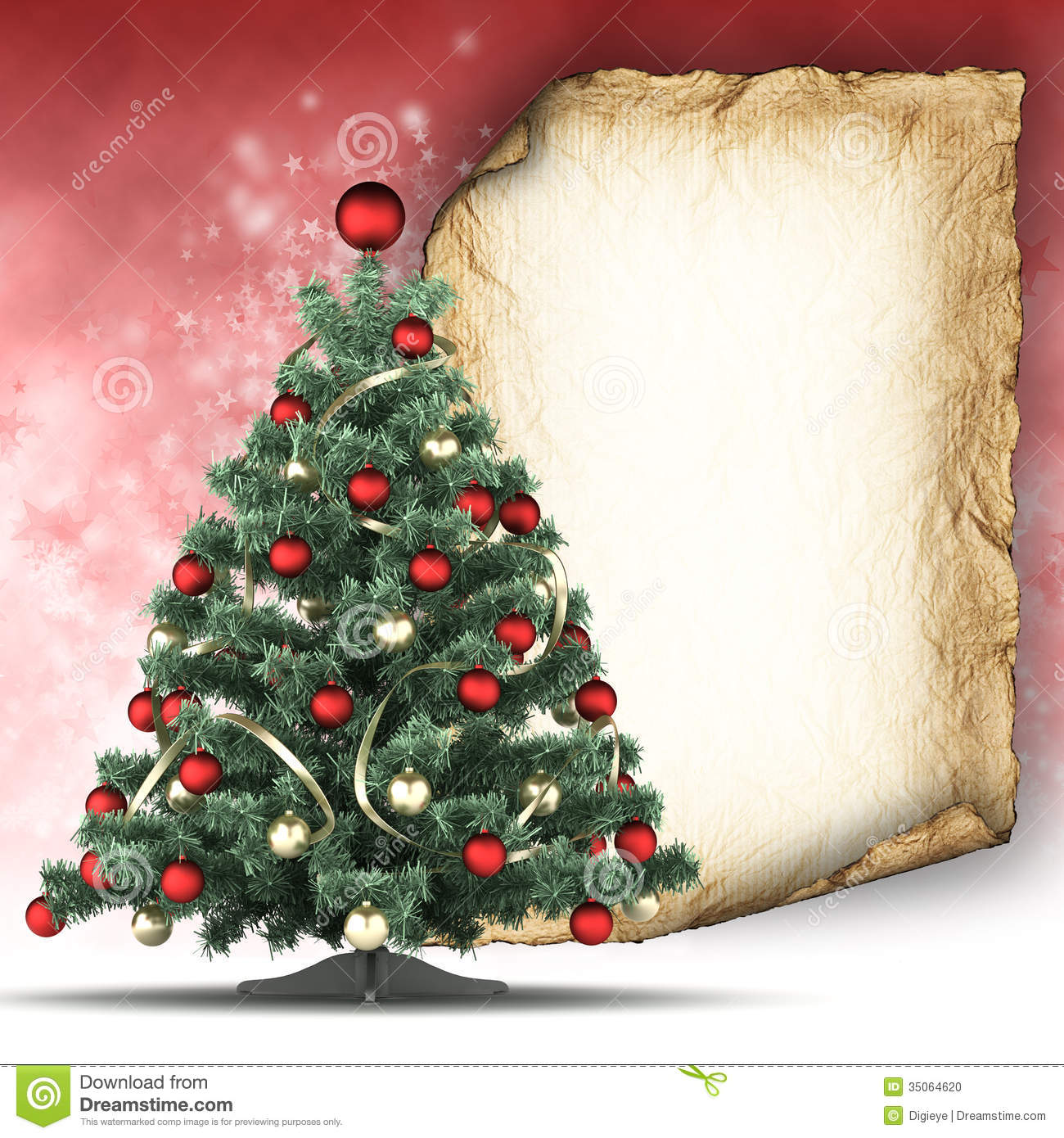 Christmas Card Template Stock Photo - Image: 35064620