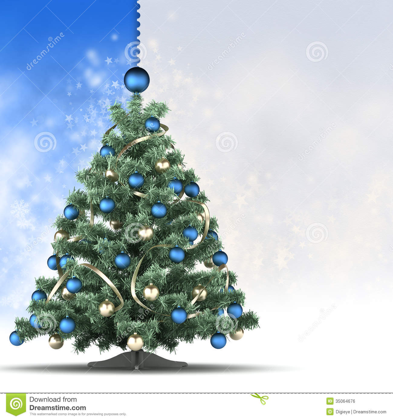 Christmas Card Template - Xmas Tree And Blank Space For Text Stock ...