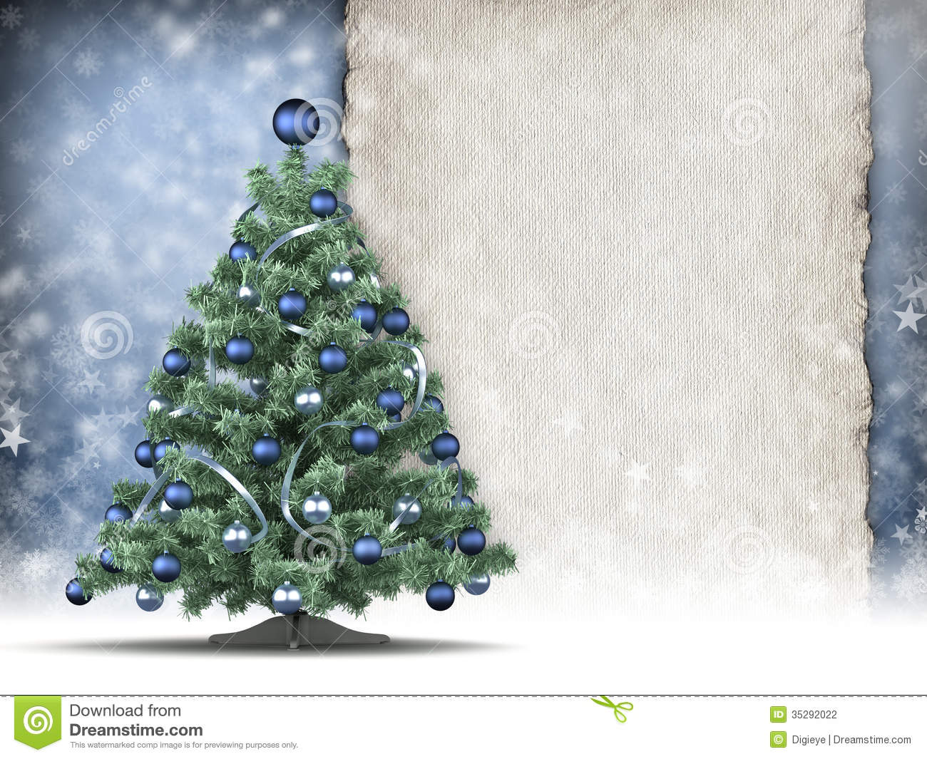 Christmas card template xmas tree and handmade paper sheet