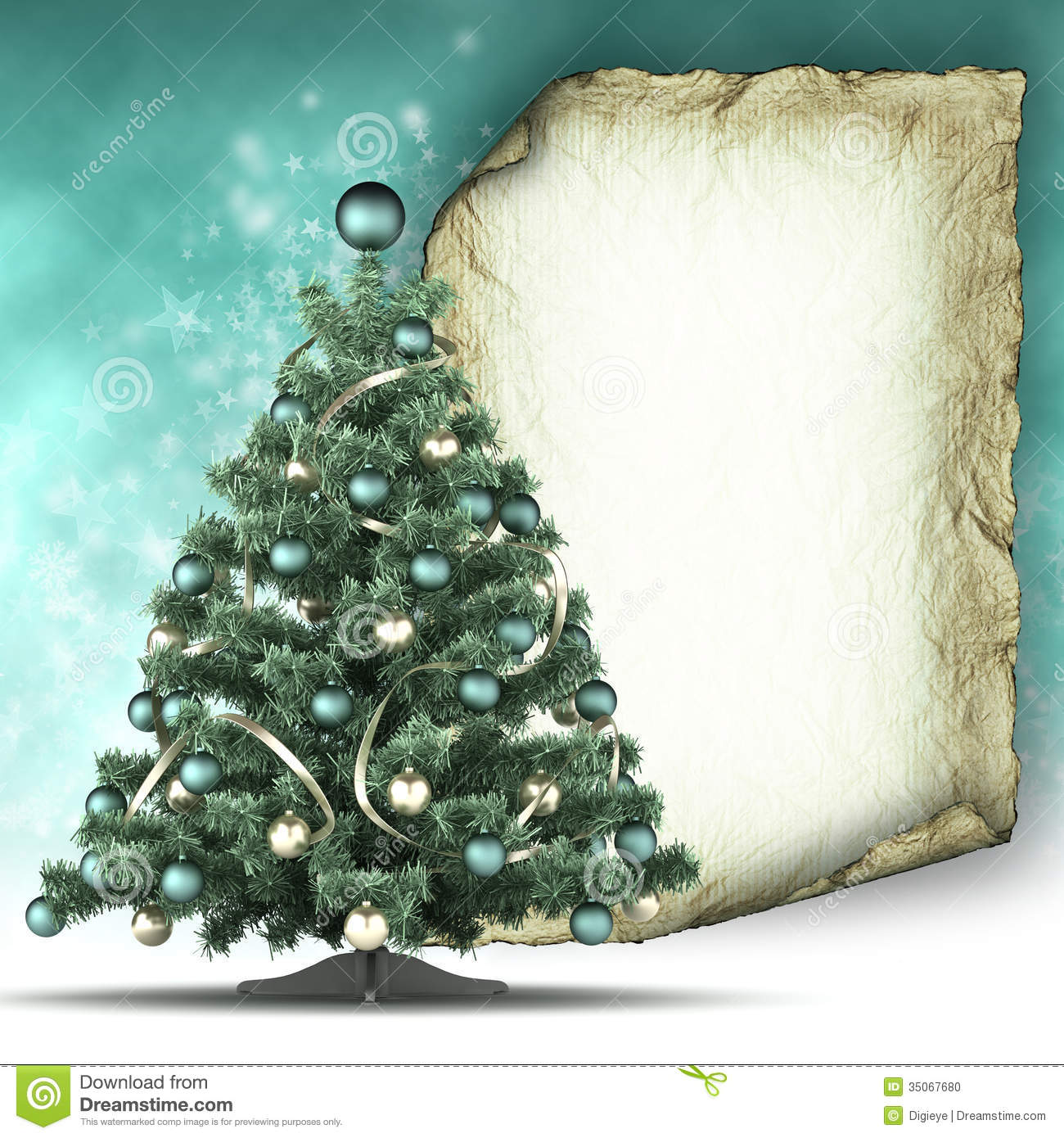 christmas card template xmas tree and paper sheet stock photo christmas card template xmas tree and paper sheet