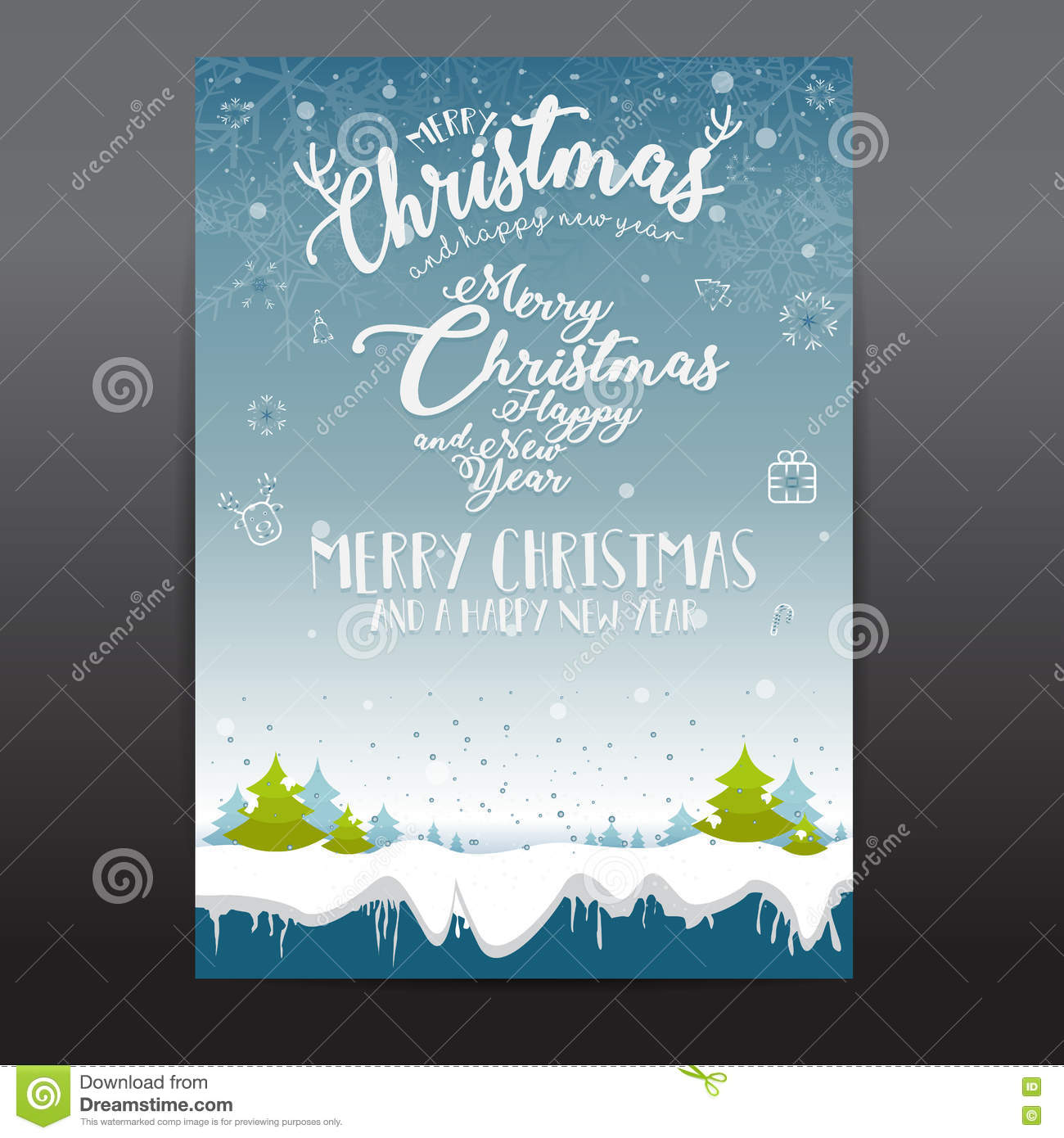 christmas card templates christmas posters set vector illustration