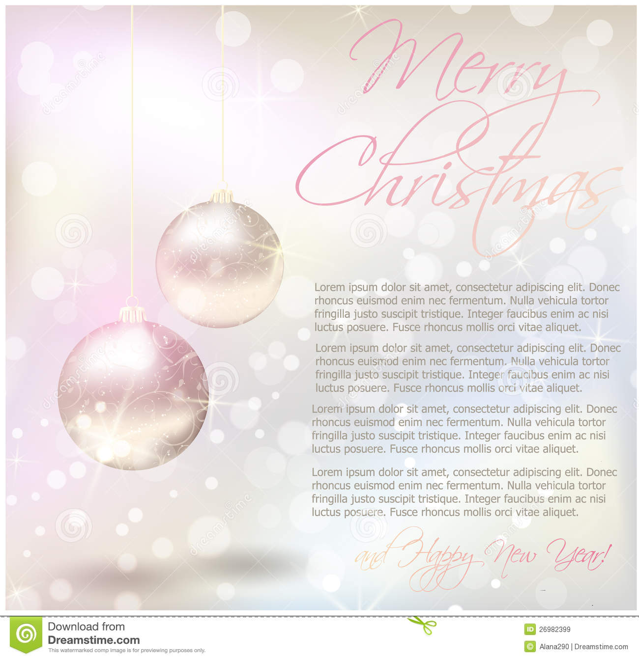 Christmas card with text sample stock vector illustration of christmas card with text sample m4hsunfo