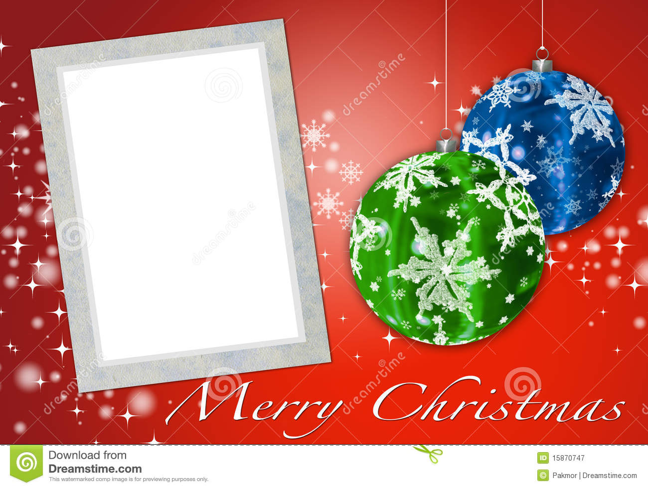 Christmas Card To Add Your Picture Royalty Free Stock