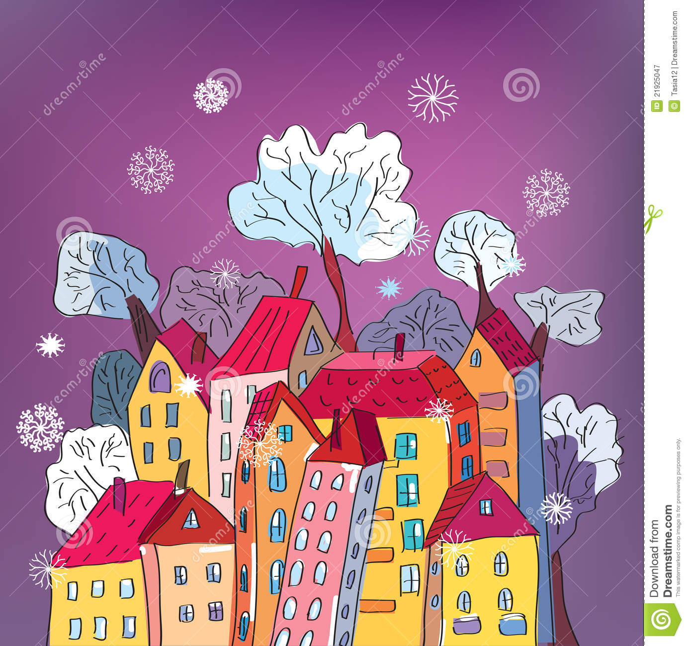 Home sweet home moving in new house greeting card stock vector christmas card with whimsical houses royalty free stock photography kristyandbryce Gallery