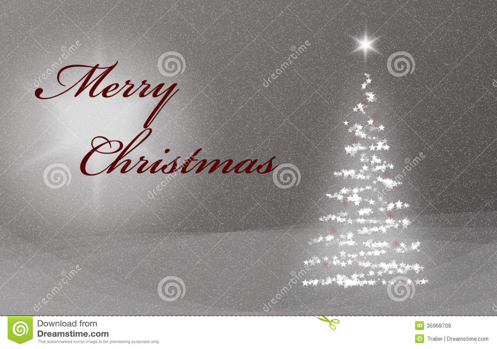 Christmas Card X-Mas Card With Christmastree Snow And ...