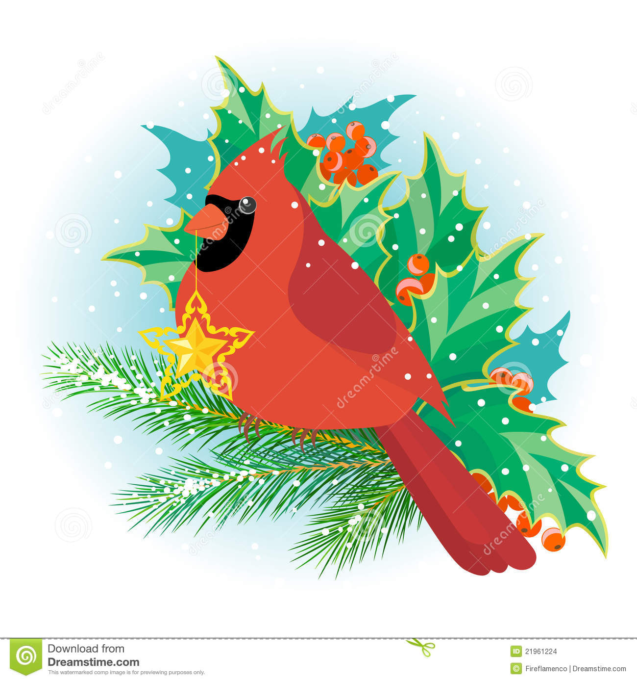 Christmas Cardinal Stock Images - Image: 21961224