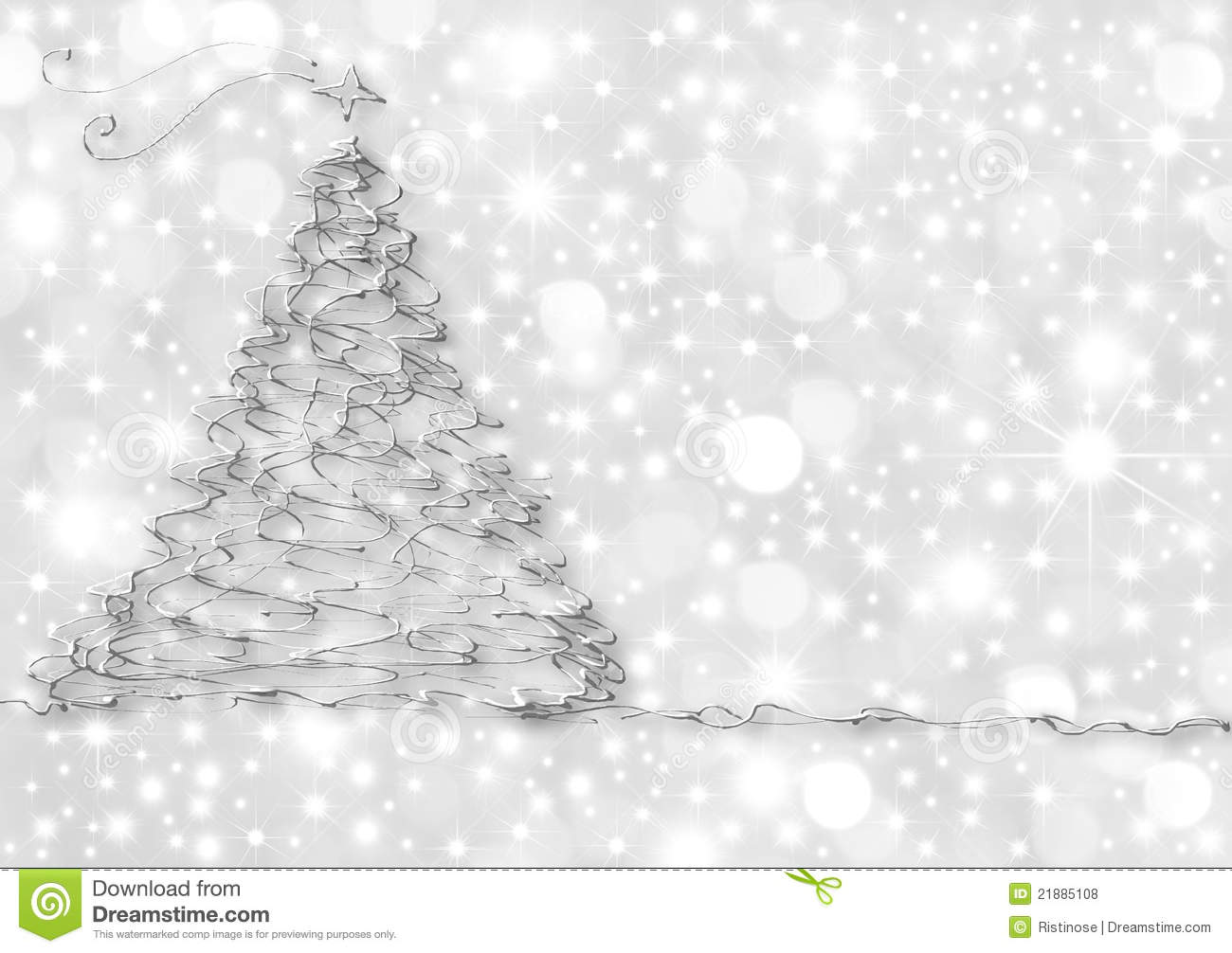 Christmas Cards Abstract Silver Fir Royalty Free Stock ...