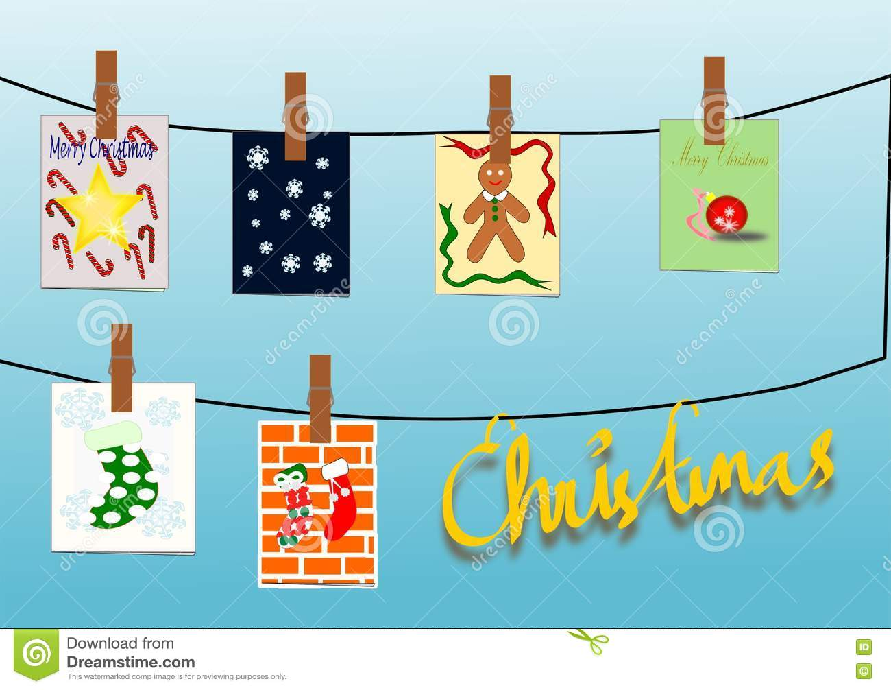 Christmas Cards stock illustration. Illustration of lines - 76516360
