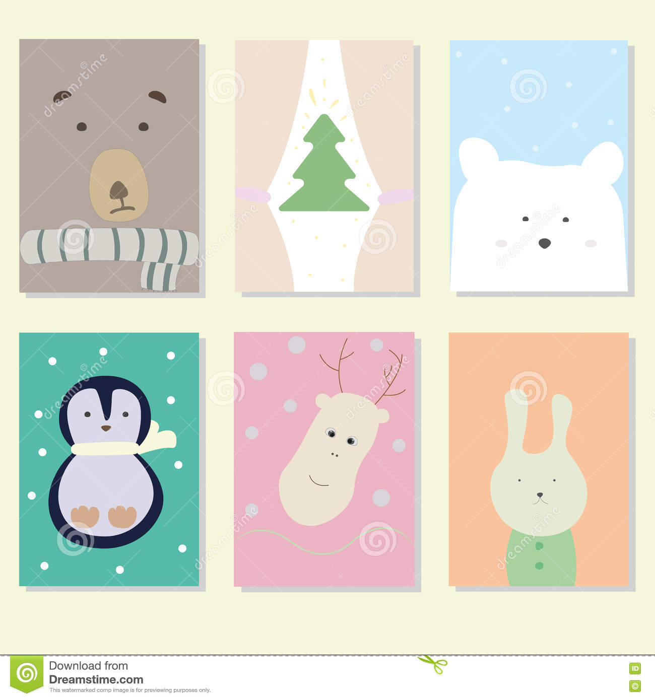 Christmas cards. stock vector. Illustration of pattern - 76470380