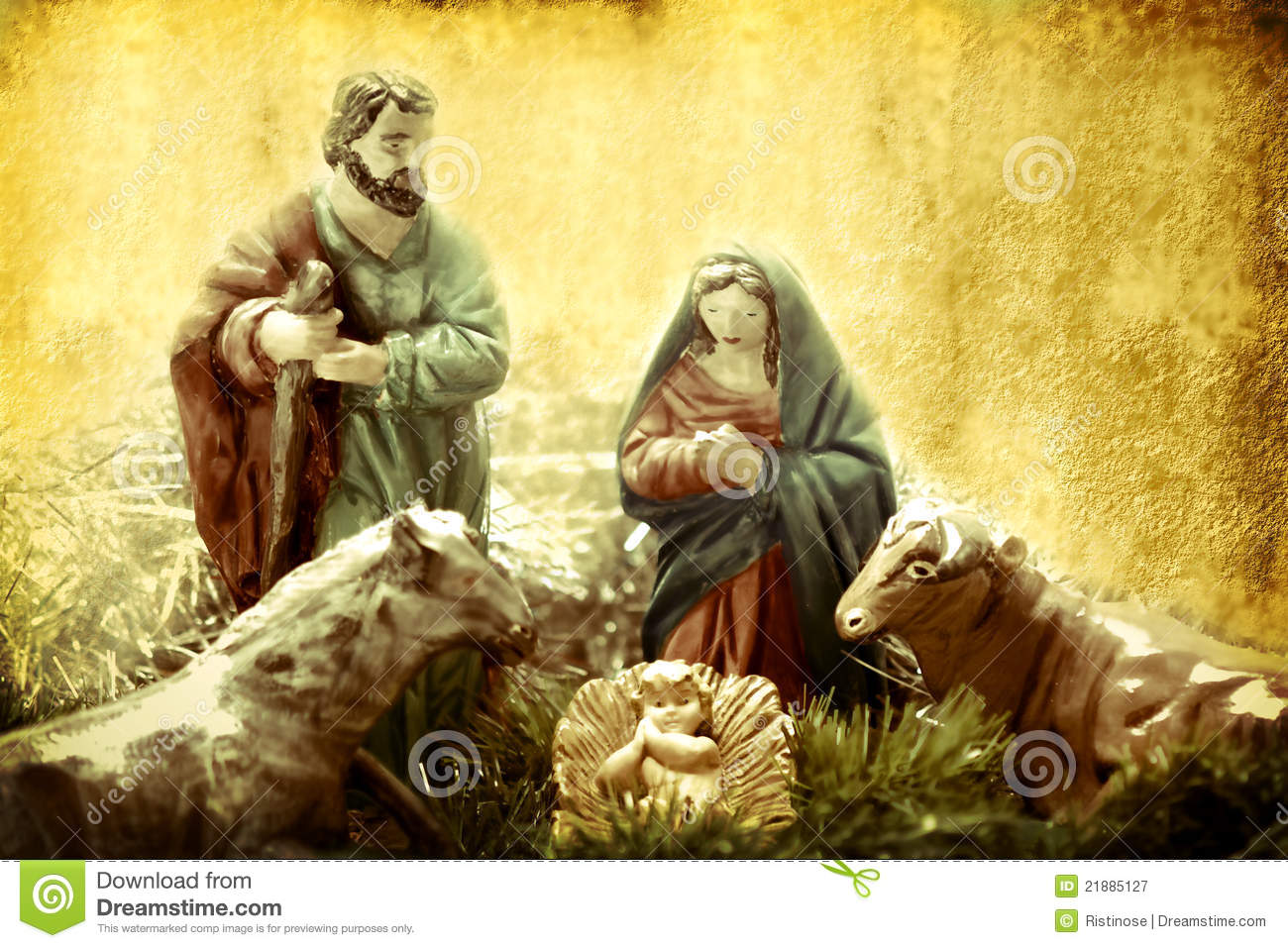 Download Christmas Cards Nativity Scene Stock Image
