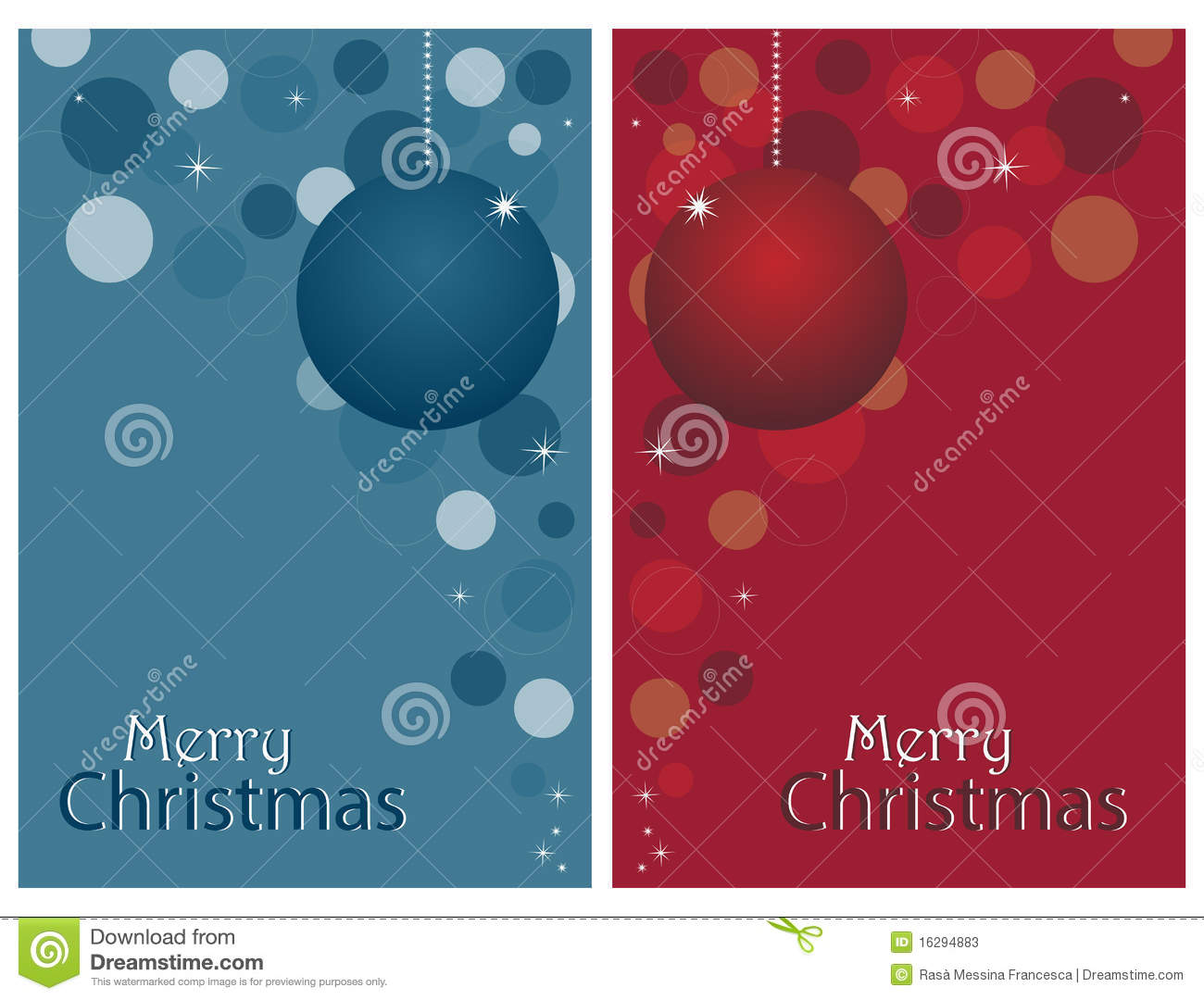 Download Christmas cards - set stock vector. Illustration of bubble - 16294883