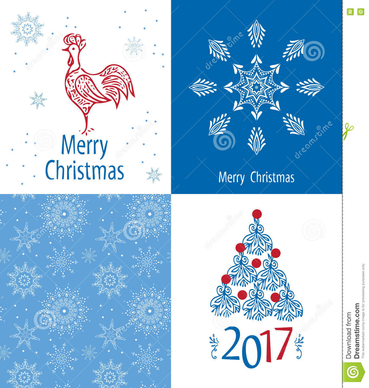 christmas cards set 2017 stock vector illustration of colorful