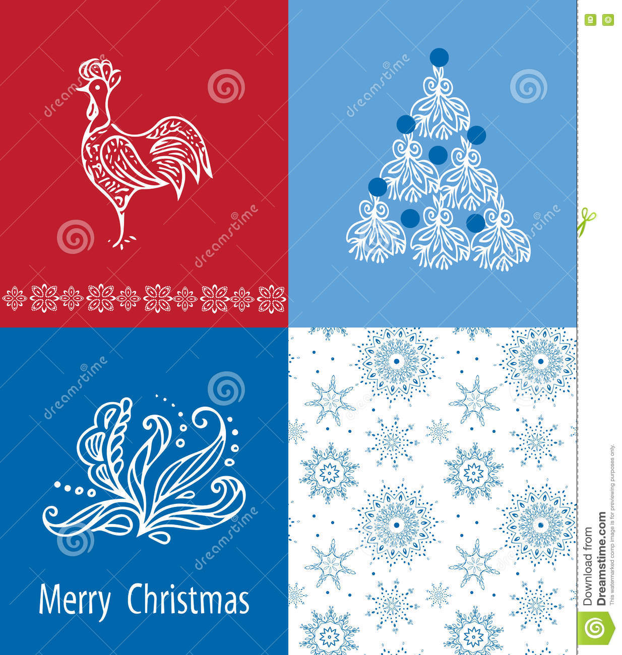 Christmas Cards Set 2017. Stock Vector - Image: 78209044