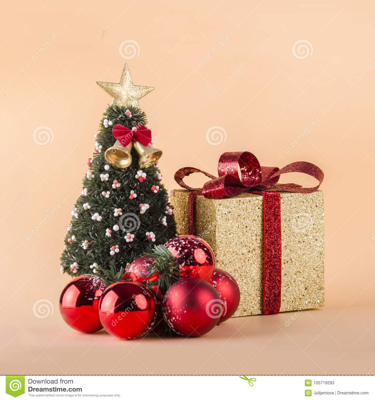Christmas Card With Ornaments As A Square Format Stock Image - Image ...