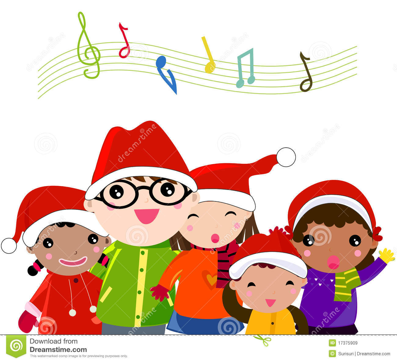 Christmas Carol stock vector. Illustration of green, musical - 17375909