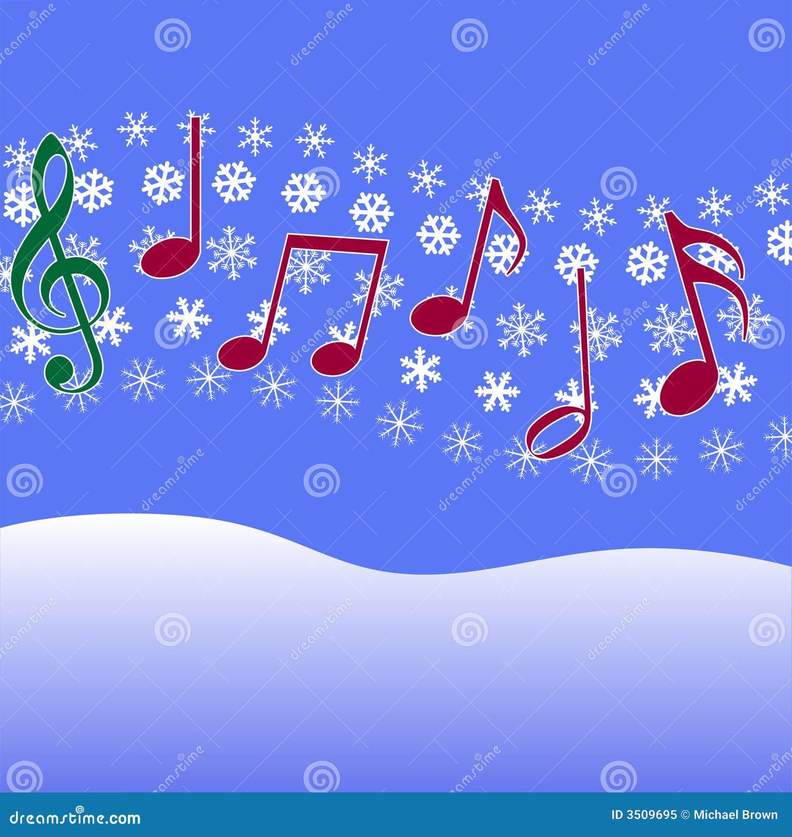 Christmas carol music snow stock vector illustration of symbols christmas carol music snow voltagebd Images