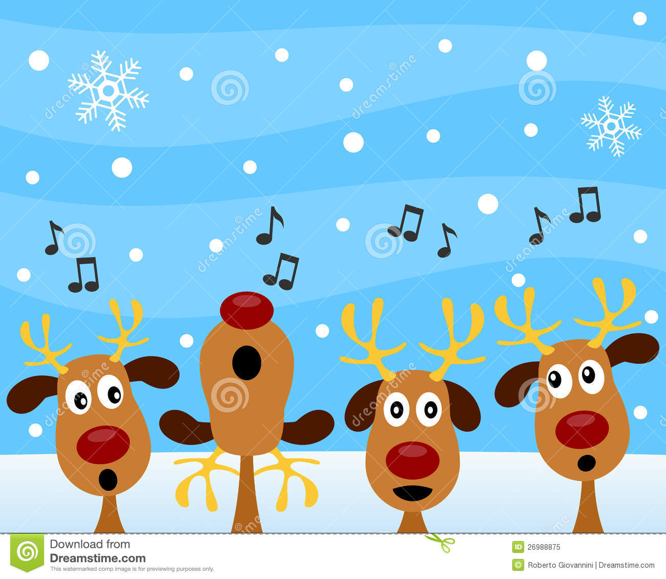 christmas carol with reindeer royalty free stock photo image