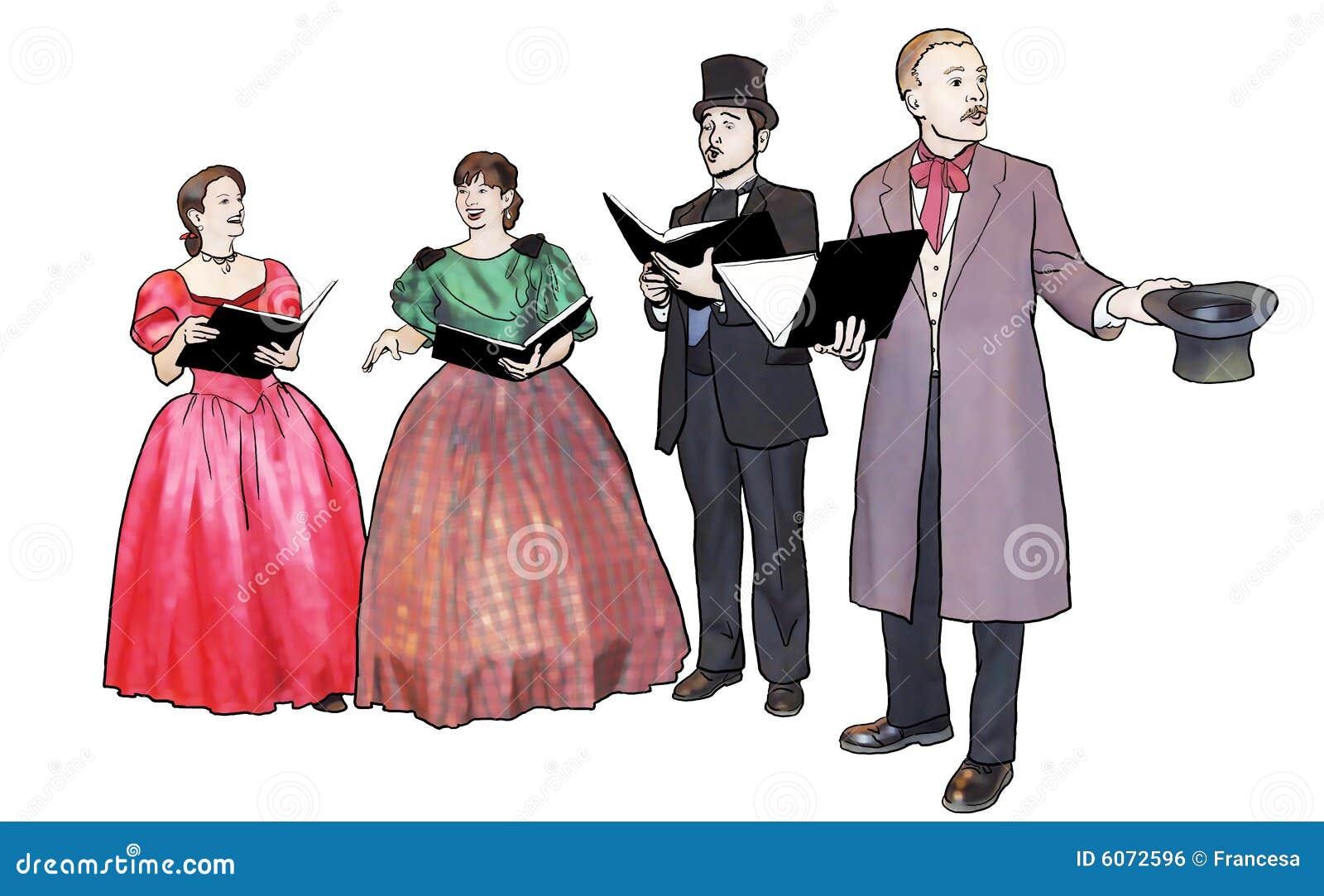 Carolers Stock Illustrations – 113 Carolers Stock Illustrations ...