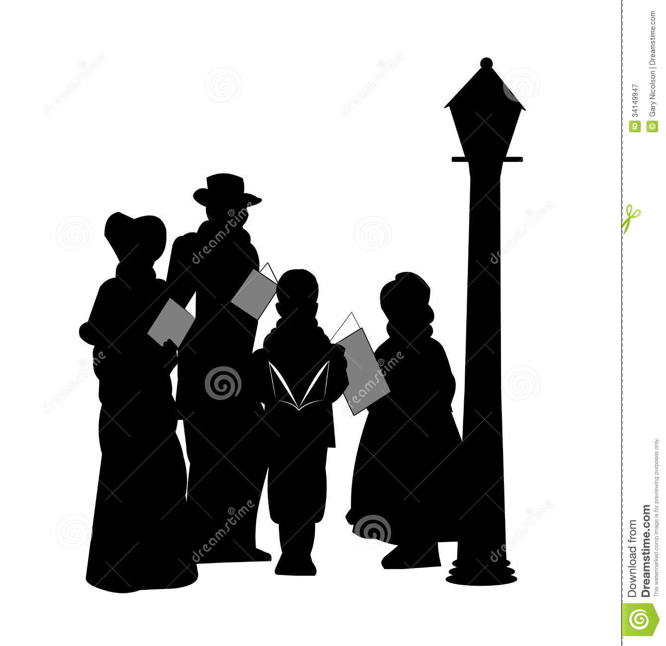 Christmas Carolers Royalty Free Stock Photography - Image: 34149947