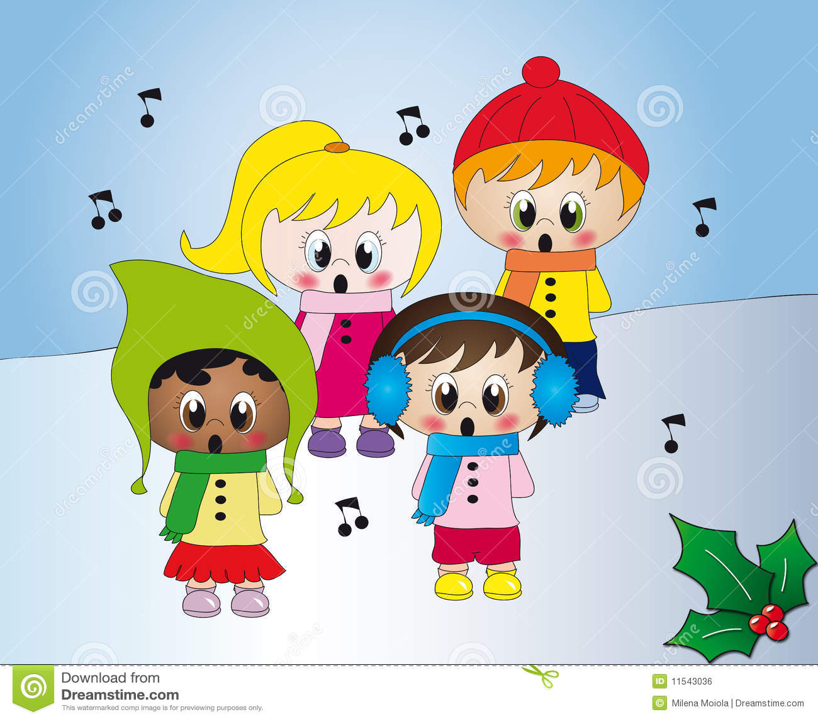 how to make a choir of three singing carols