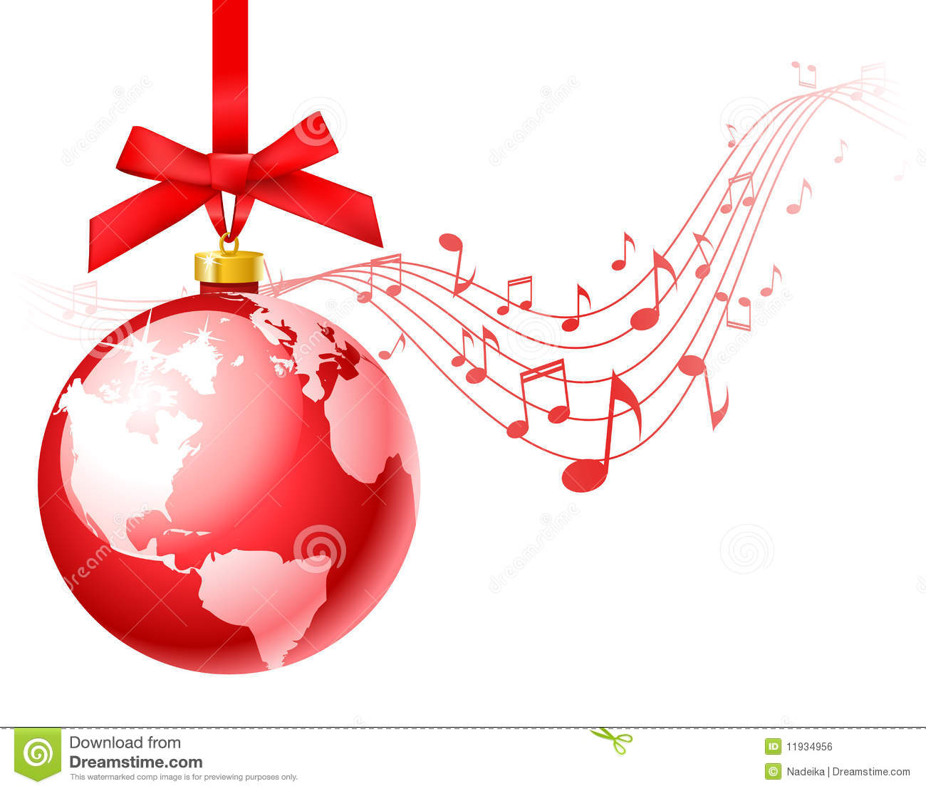 Christmas carols stock vector. Illustration of decorative - 11934956
