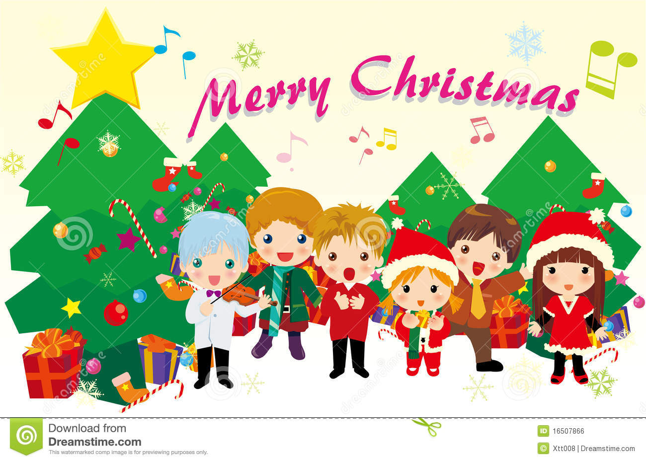 Christmas carols stock vector. Illustration of song, cute - 16507866