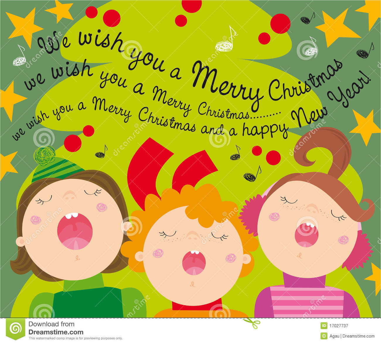 Christmas carols stock vector. Illustration of greetings - 17027737