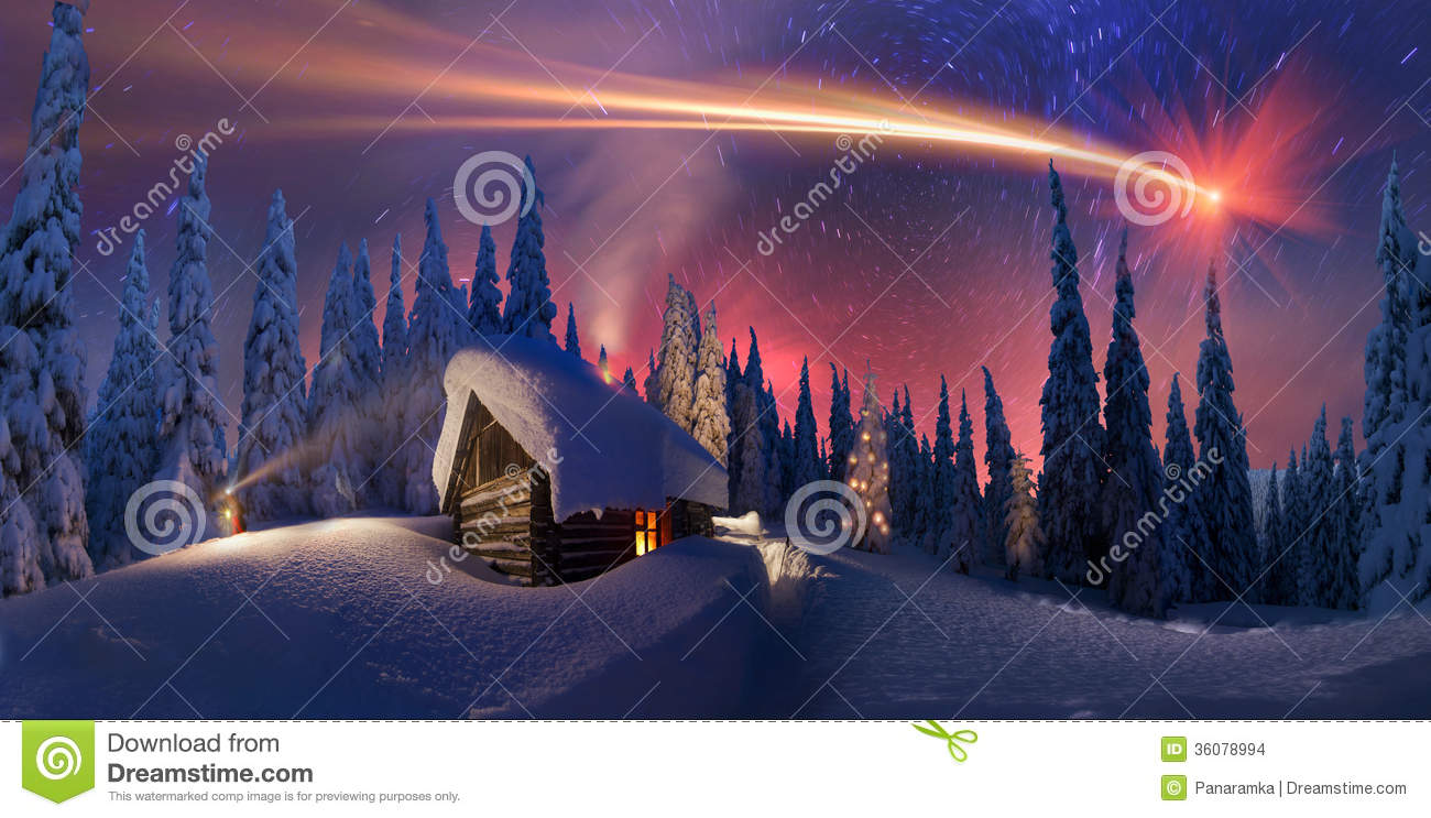 Christmas In The Carpathians Stock Images Image 36078994